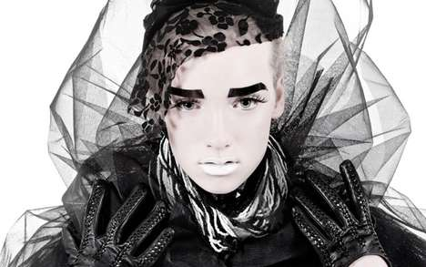 Cartoonish Sharpie Eyebrows - Lustful Gain in UCE Magazine Features an Avant-Garde Aesthetic
