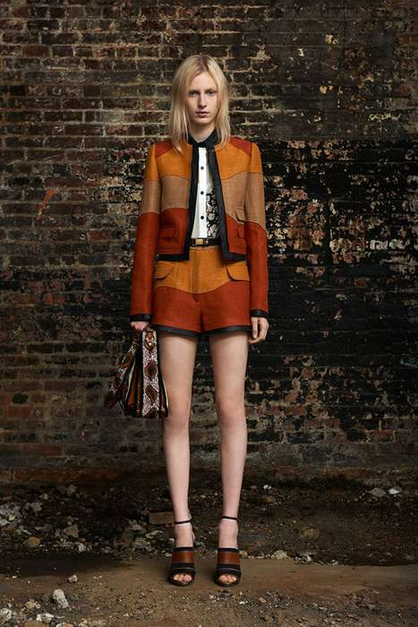 Swirling Sunset-Hued Fashion - The Proenza Schouler Resort 2012 Collection Channels Desert Shades