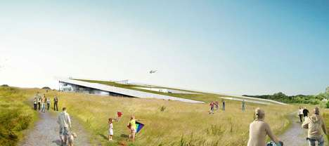 Hidden Hillside Exhibition Halls - The Moesgard Museum by Henning Larsen Architects Blends Right In