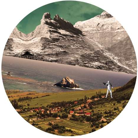 Superimposed Stormtrooper Landscapes - These Ingrid Kool-Clarke Collages Fuse Nature & Nerdiness