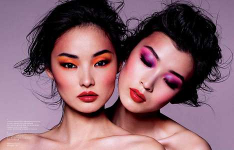 Neon Candy Makeup - Clash in Rouge Spring Shows Killer Vibrant Cosmetics