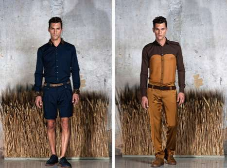 Luxe Patchwork Menswear - The Dimitris Petrou Spring/Summer Collection Mixes Motley Textures