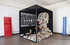 Head-Shaped Novel Installations - The Numabookface is Part Art, Part Bookshop