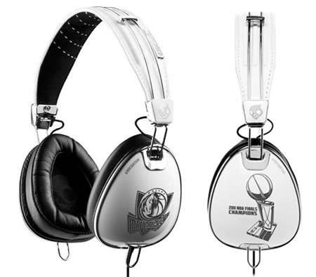 Celebratory Earphone Bling - The Skullcandy Dallas Mavericks Headphones Celebrate a Championship