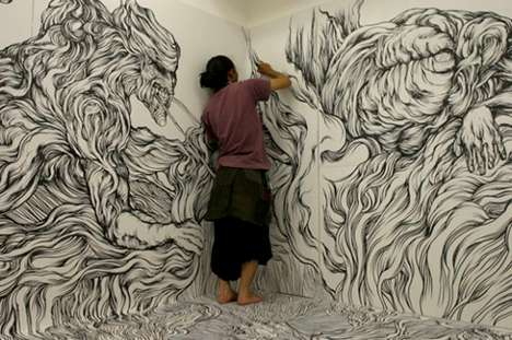 Immersive Doodle Installations