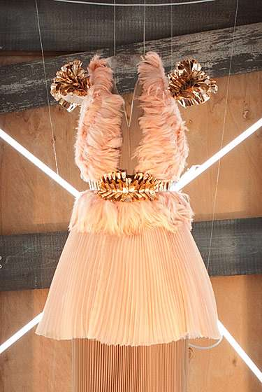 Illuminated Dress Displays - The Rodarte Pitti W Collection Showcases Gowns that Glow