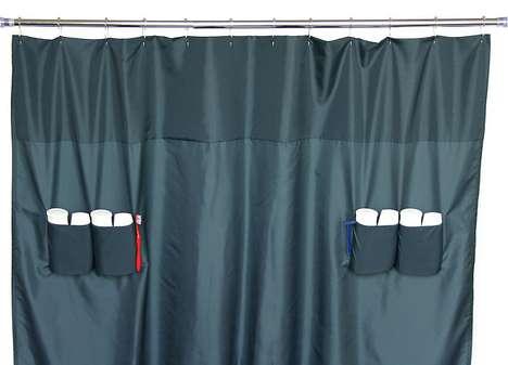 Storage-Savvy Shower Curtains