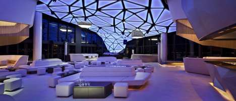 Geometrically Futuristic Lounges