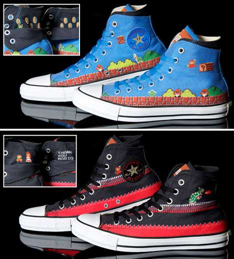 Geeky Gaming Sneakers (UPDATE) - Two New Super Mario Converse Shoes to Hit the Market
