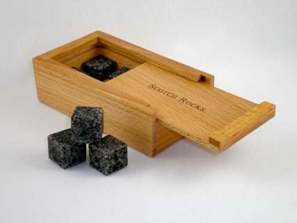Stone-Cold Drink Chillers  - Scotch Rocks Make Drinking Scotch on the Rocks a Literal Experience
