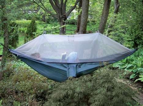 Comfy Canopy-Covered Camping - Sleep Off the Ground Without Bug Bites in the Netted Cocoon Hammock