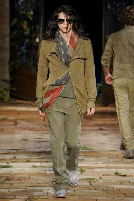 Rustic Men's Streetwear - The John Varvatos Spring Menswear Collection at Milan Fashion Week
