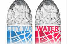Urban Grid Branding - City Water Packaging Maps Out Metropolitan Paris