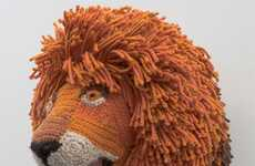 Intricate Crocheted Busts - Nathan Vincent Makes Child-Friendly Animal Taxidermy