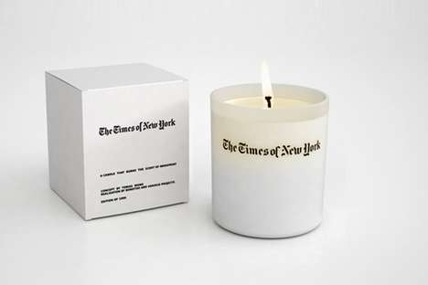 Newspaper-Scented Candles