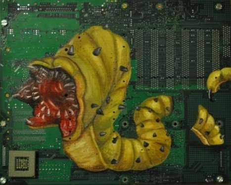 Monstrous Motherboard Art