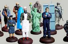 Political Strategy Games - The America VS. Taliban Chess Set Lets You Checkmake Bin Laden with Bush