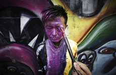 Fade-In Human Art (UPDATE) - Liu Bolin x Kenny Scharf Create NYC Street Art that Confuses Viewers