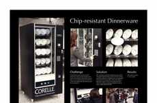Dish-Dispensing Campaigns - Corelle Chip-Resistant Dinnerware Sold in Vending Machines