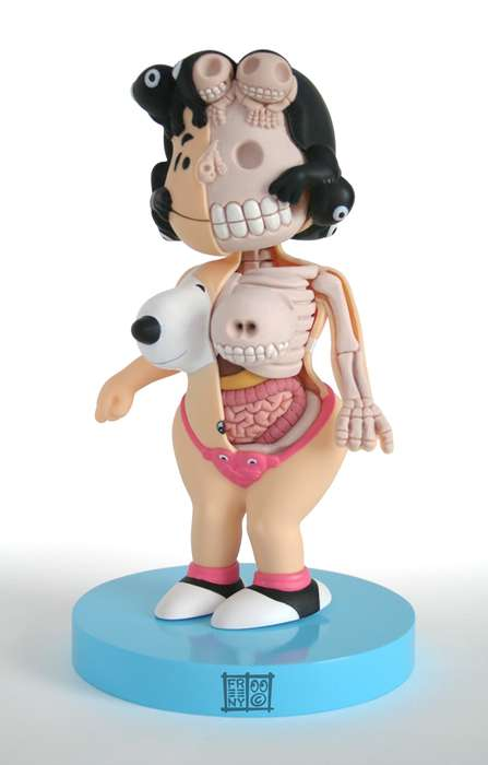Anatomical Peanuts Figures