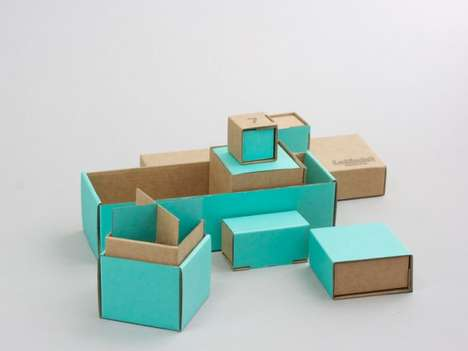 Puzzle-Inspired Stationery Boxes