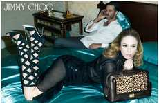 Ferocious Footwear Fashion - The Jimmy Choo Fall Campaign Stars Raquel Zimmermann