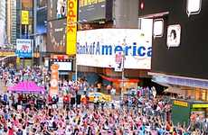 Sun Salutation Events - The Summer Solstice in Times Square Encourages Yogis to Welcome the Season