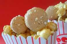 Theater Concession Confections - Toffee Popcorn Mini-Macarons are Perfect for Movie Night