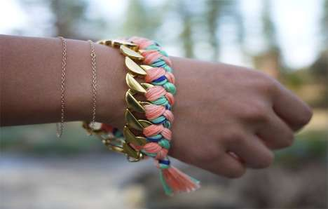 Friendship Bands for Adults - DIY Woven Chain Bracelets Let You Channel Childhood Nostalgia Chicly