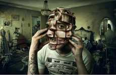 Rubik-Faced Photography - These Ricardo Salamanca Photo Manipulations are Seriously Surreal