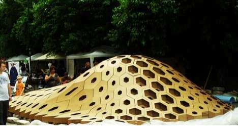 Bulbous Honeycomb Sculptures