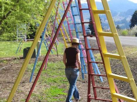 Agrarian Art Installations - Running Fruit Ladders Project Puts Focus on Family Farms