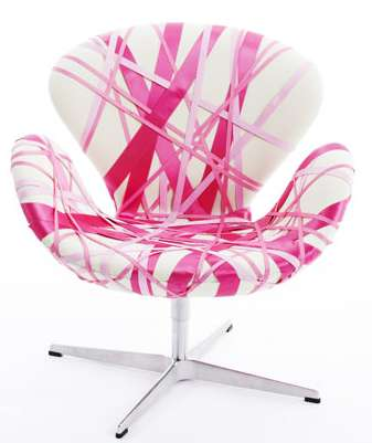 "The Pink Swan Project Chairs are Definitely ""Chair-itable"""