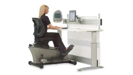 Gym-Inspired Work Stations - The Elliptical Work Desk Lets You Tone While You Type