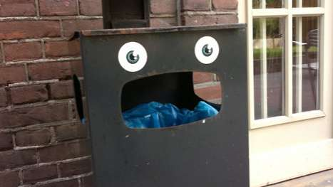 Personified Garbage Bins