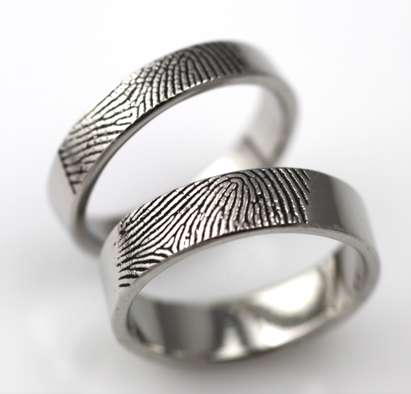 Fingerprinted Wedding Bands