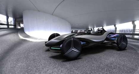 Futuristic Wind-Powered Roadsters
