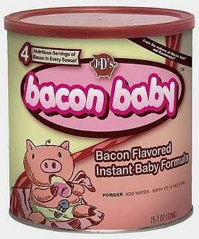 The Bacon Baby Infant Formula from J&D is Salty Milk