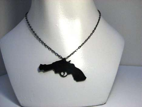 Recycled Silhouette Jewelry - The Yoshi Etsy Shop Turns Old Vinyl Records Into Accesories