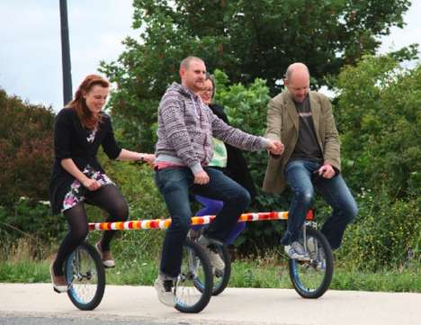 Four-Person Unicycles