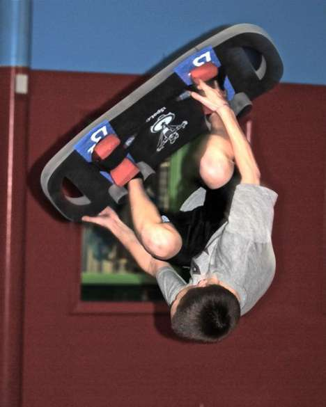 Off-Season Snowboard Training - The Defy Gravity Bounceboarding Class Teaches Aerial Tricks Indoors