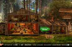 Retrofied Interactive Ads - The Mountain Dew Throwback Shack Marks Classic Taste