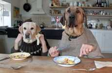 Hungry Pooch Parodies - The Two Dogs Dining Video is Hilariously Humanlike