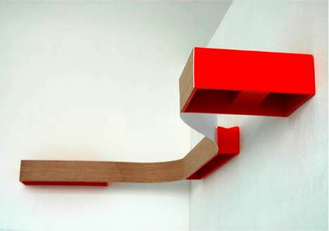 Continuous Contemporary Shelving