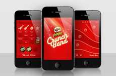 Slamming Sound Apps - Pringles Crunch Band Uses the Chip Container as an Amplifier