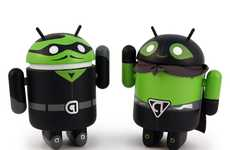 Adorable Mobile Mascots - Google Android Mini Figures Jump from Phones to Reality