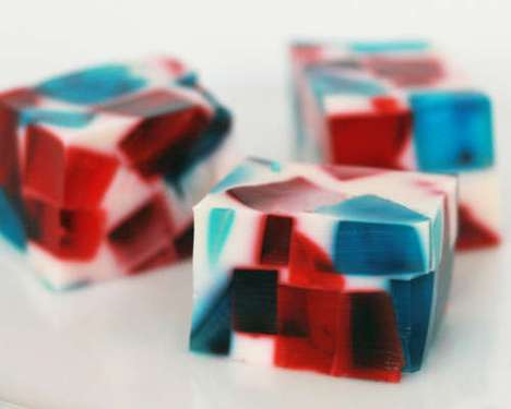 These 'Stained Glass Jello' Creations are Perfect for the Fourth of July