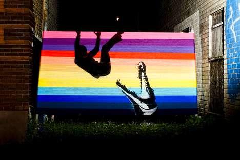 Vibrant Yarn Graffiti