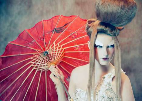Stylized Japanese Shoots - The To Dream of Japan Series is Exotically Modern