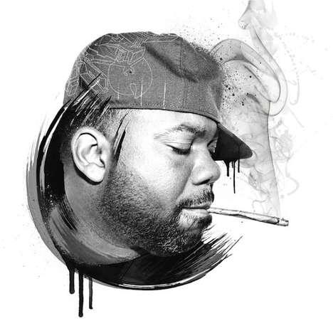 Grayscale Hip-Hop Portraiture